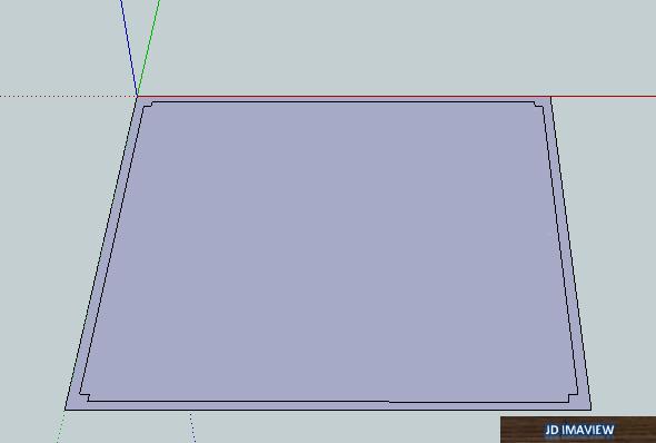 dibujar plano en  2d para levantar las paredes en google sketchup