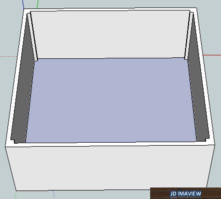 visualizacion final del levantamiento de paredes en google sketchup