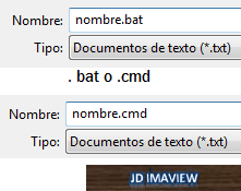 archivo bat o cmd