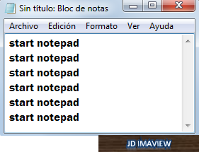 start notepad