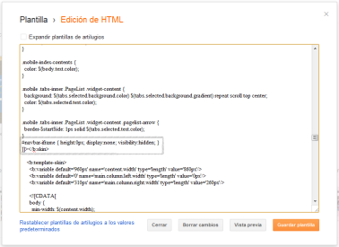 código de blogger