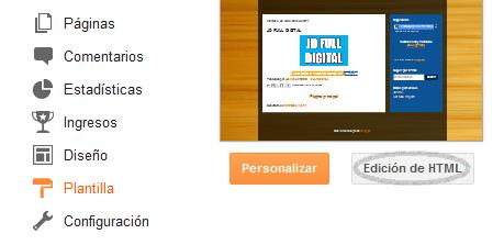 Edición de HTML - blogger