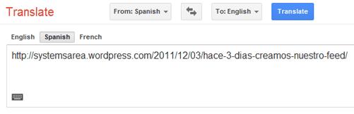 Traducción de URL
