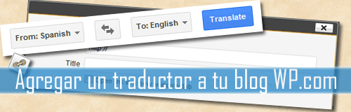 Traductor en WordPress