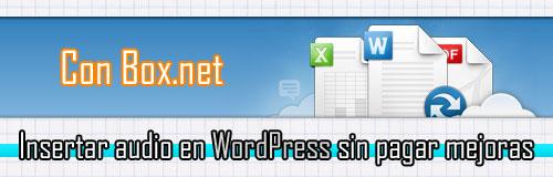 audio-en-WordPress-sin-pagar-mejoras