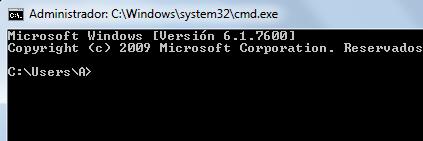 version del ms-dos y nombre del usuario