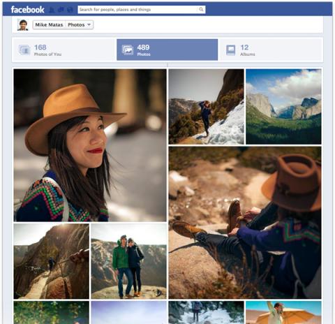 Nuevo diseño para la sección de imágenes de Facebook.