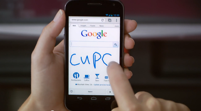 google handwrite new system