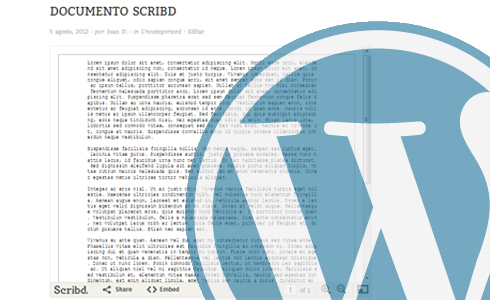 insertar scribd en wordpress