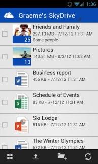 SkyDrive ya disponible en android