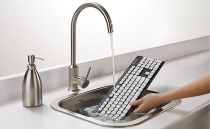 teclado que se puede lavar y sumergir en agua
