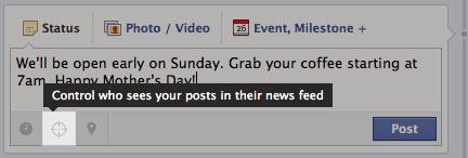 criterios de contenido para los fans en facebook