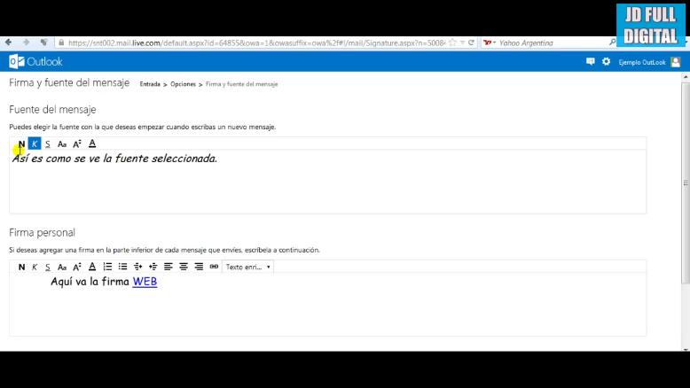 personalizar la firma de los mensajes enviados en outlook