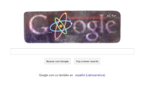 Google celebra el cumpleaños 127 de Niels Bohr