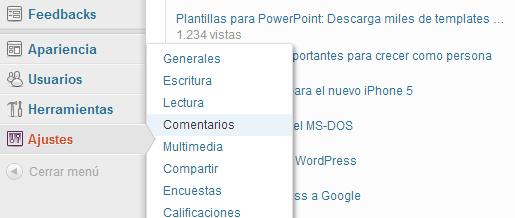 Titulo en la caja de comentarios de WordPress